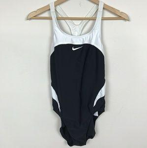 Nike Swimwear One Piece Black White Sz: 10
